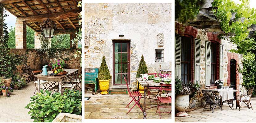 Claves para decorar patios con estilo toscano for Ideas y estilo en jardines