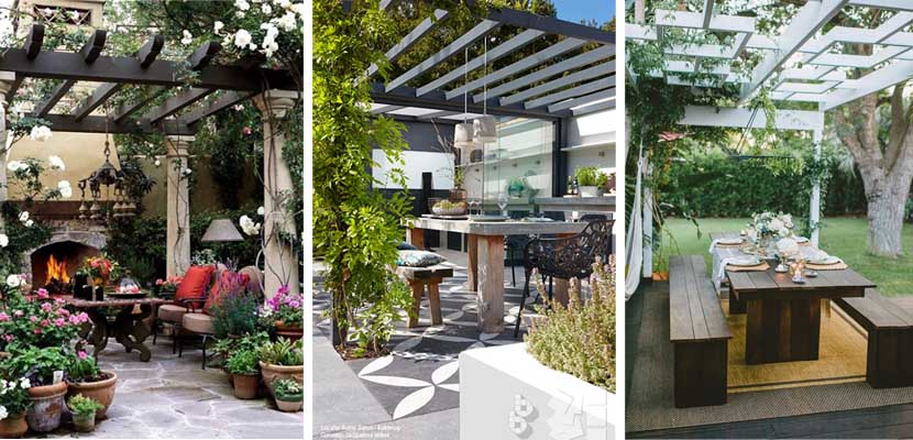 P rgolas cubiertas de flores para tu jard n - Pergolas baratas para jardin ...
