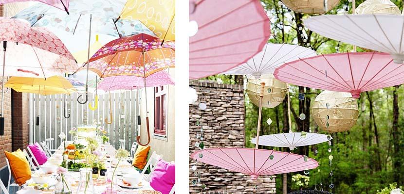 Como proteger del sol una fiesta en el jard n for Como hacer una sombrilla para jardin