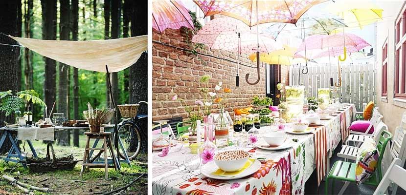 Toldos caseros fiesta jardín