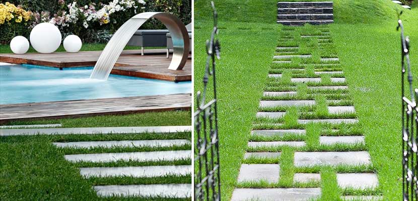 Construye un camino para tu jard n de piedra - Losas para jardin ...