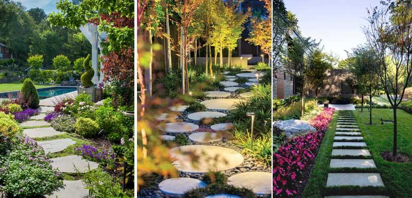 Camino de piedra jardín