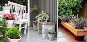 Bancos de jardin DIY
