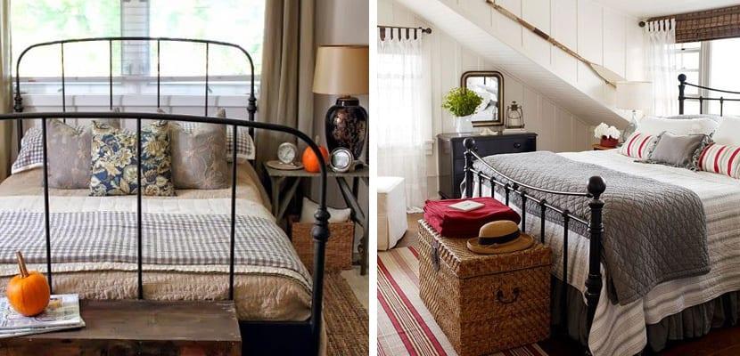 Dormitorios r sticos con mucho encanto - Camas de forja antiguas ...