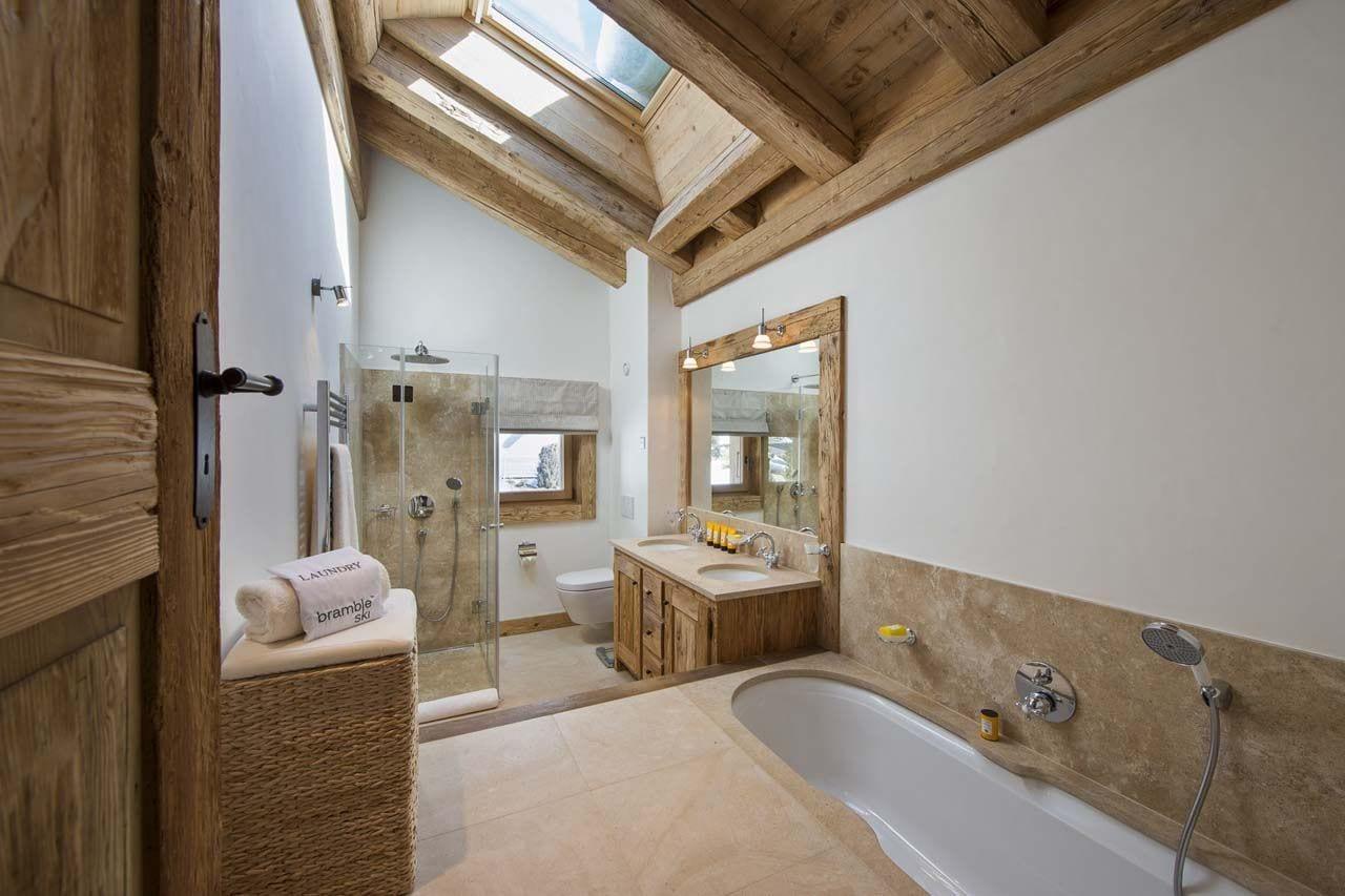 estilo rústico cuarto de baño