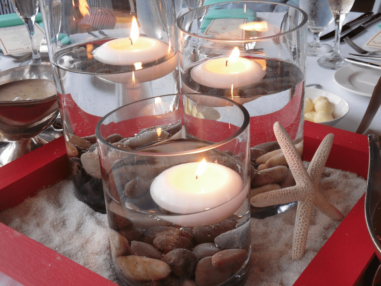 ideas decorativas con velas