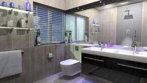 ideas decorativas para cuartos de baño grandes