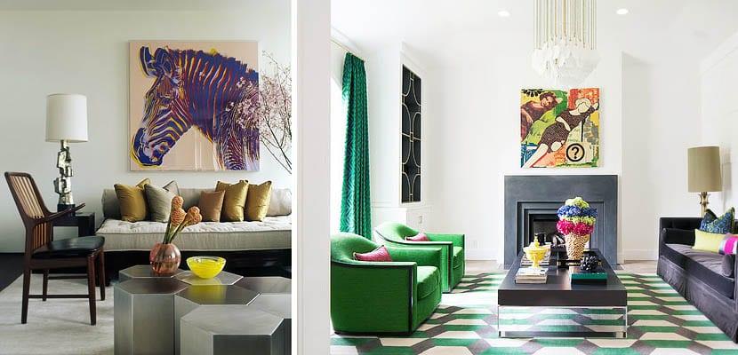 Salones decorados con cuadros de estilo pop art - Cuadros para decorar salones ...