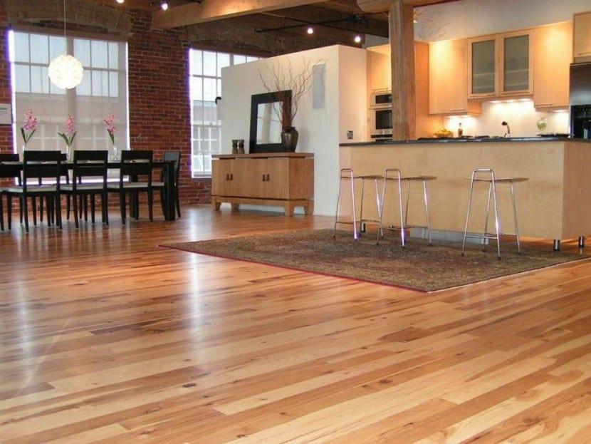 Suelos de madera para la cocina for Loseta para cocina