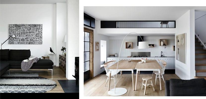 una casa moderna con aires vintage