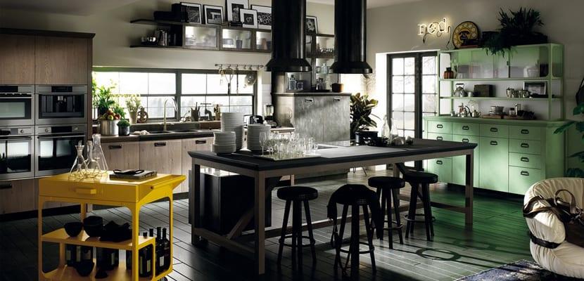 Claves para una cocina de estilo industrial for Muebles de cocina estilo industrial