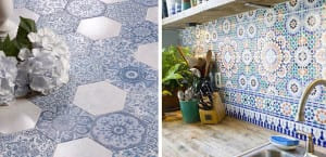Cocinas con azulejos vintage