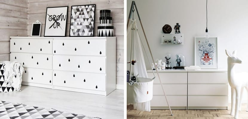 Ideas para usar la c moda malm de ikea for Decoracion de comodas