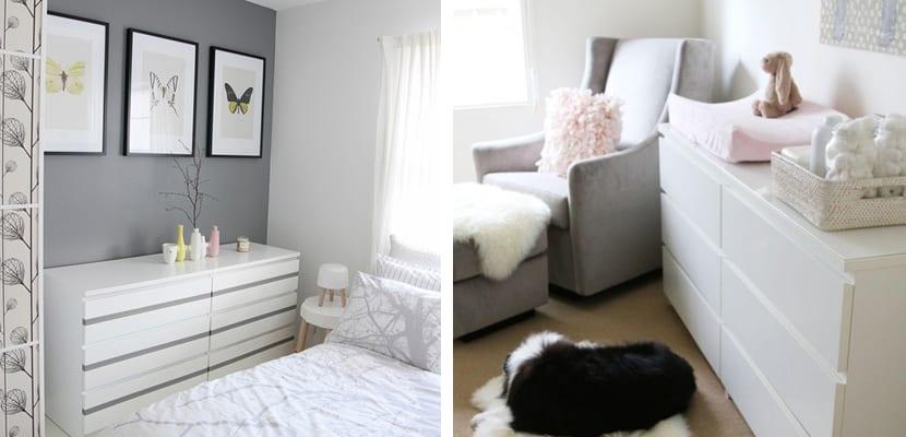 Ideas para usar la c moda malm de ikea - Dormitorio malm ikea ...