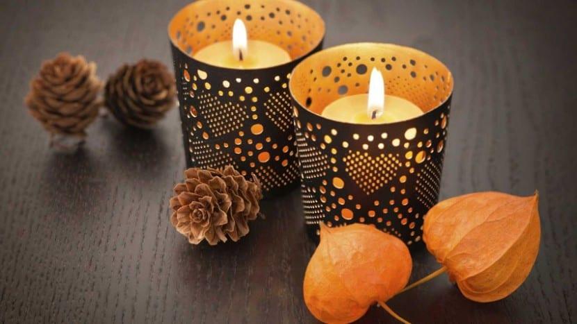 detalles decorativos otoño
