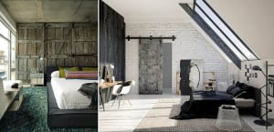 Dormitorio rústico-industrial