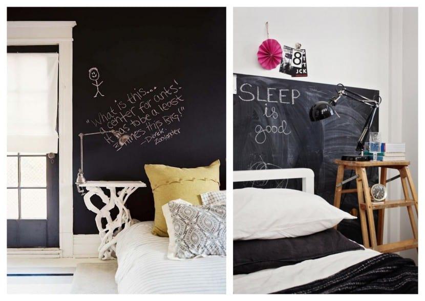 Como Decorar Dormitorios Con Pintura Pizarra Y Que Quede Increible