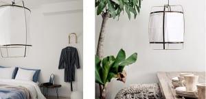 Lampara Z1 de bambú y algodón