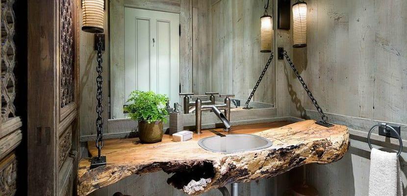 lavabos r sticos en piedra o madera On lavabos de piedra rusticos