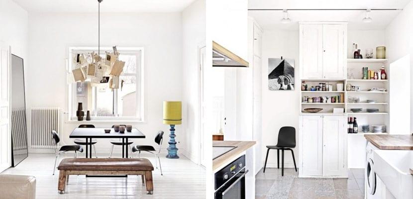 Piso minimalista y vintage