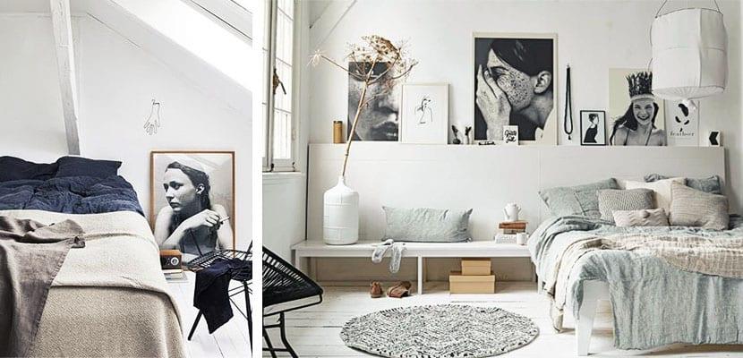 Retratos en el dormitorio