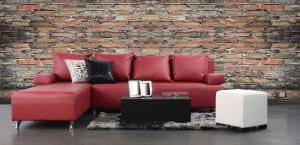 Sofá rojo para el salón