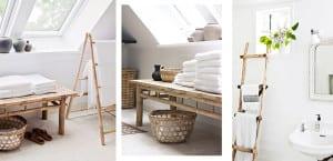 Formas de organizar toallas en el baño