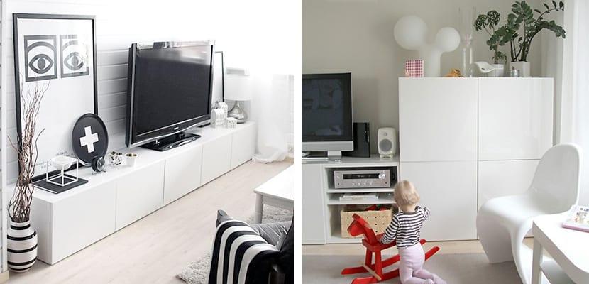 Formas de usar el mueble besta de ikea - Muebles television ikea ...