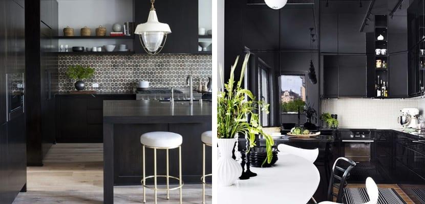 Cocinas negras en un estilo muy chic - Cocinas negras ...