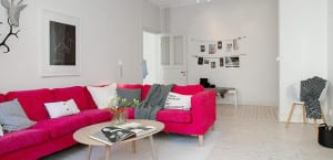 Decoración en color rosa fucsia