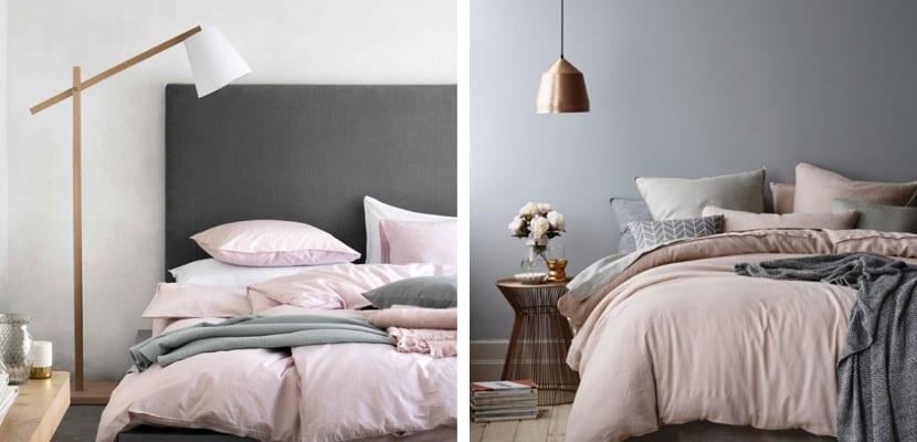 Dormitorios en gris y rosa for Cuarto negro con gris
