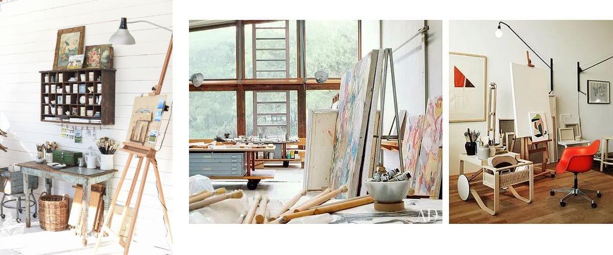 Organiza tus muebles en tu estudio de arte