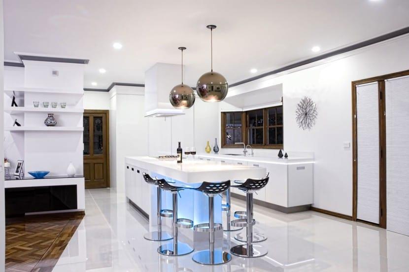iluminación en las cocinas