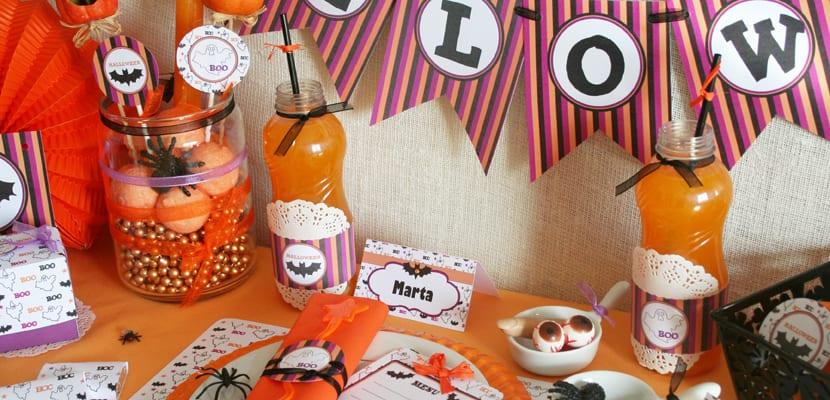 Mesa dulce de Halloween
