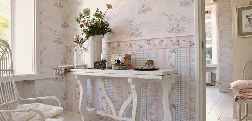 Papeles pintados estilo romántico