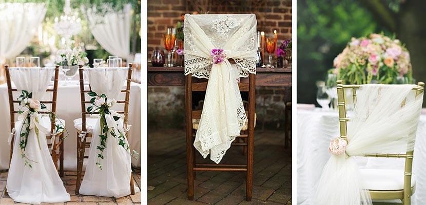 Como decorar las sillas el d a de tu boda for Sillas para dormitorios matrimonio