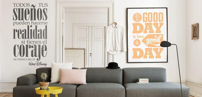 Vinilos con texto para decorar el hogar - Vinilos con textos ...