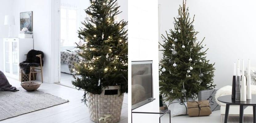 árboles de Navidad estilo minimalista
