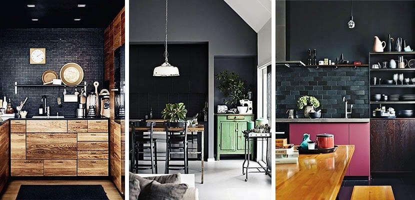 Azulejos negros cocina