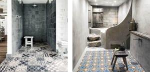 Azulejos de baño marroquis