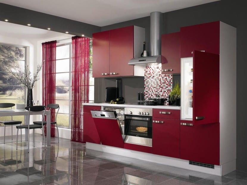 cocina-de-color-rojo