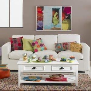 decorar el sofá con cojines