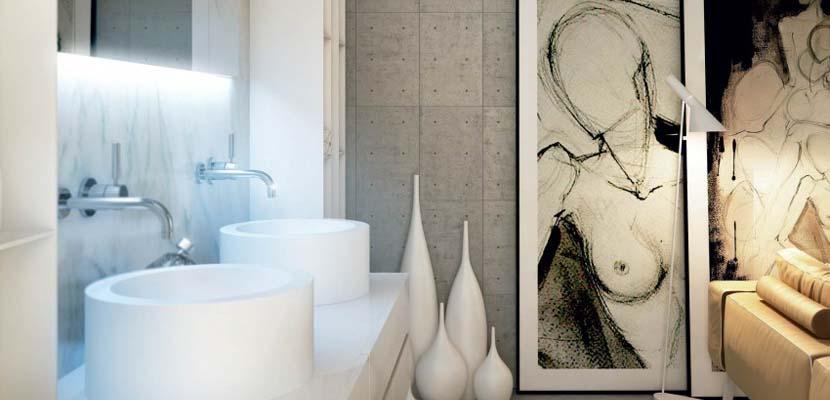 Ideas para decorar las paredes del baño