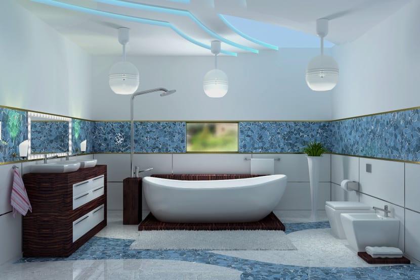 awesome cheap el azul en el bao with como decorar un hogar with como decorar el bao - Como Decorar Un Bao