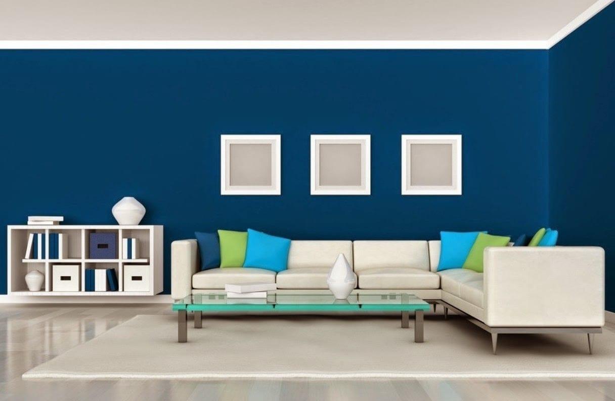 el color azul en la decoración