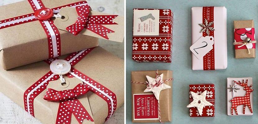 Envolver regalos de Navidad