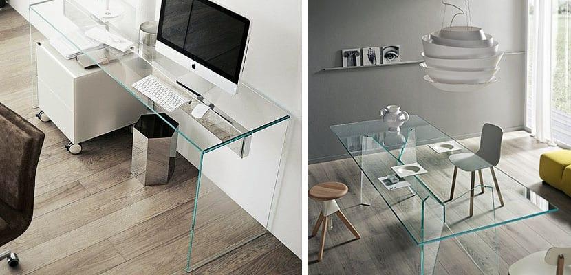 Mesa escritorio de cristal free mesa estudio y ordenador for Mesa cristal ikea escritorio