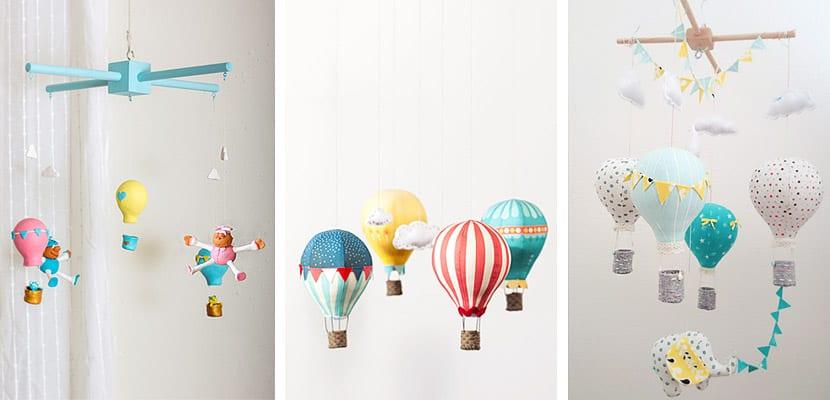 Como decorar con globos aerost ticos el dormitorio infantil - Como decorar una habitacion de bebe ...