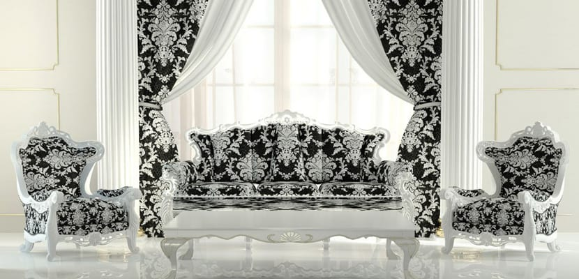 Salón estilo barroco