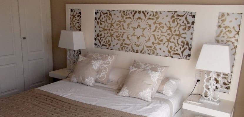 Usos para el papel pintado - Cabecero cama pintado ...